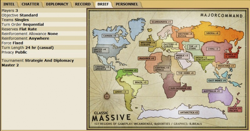 Risk Game Map Brief