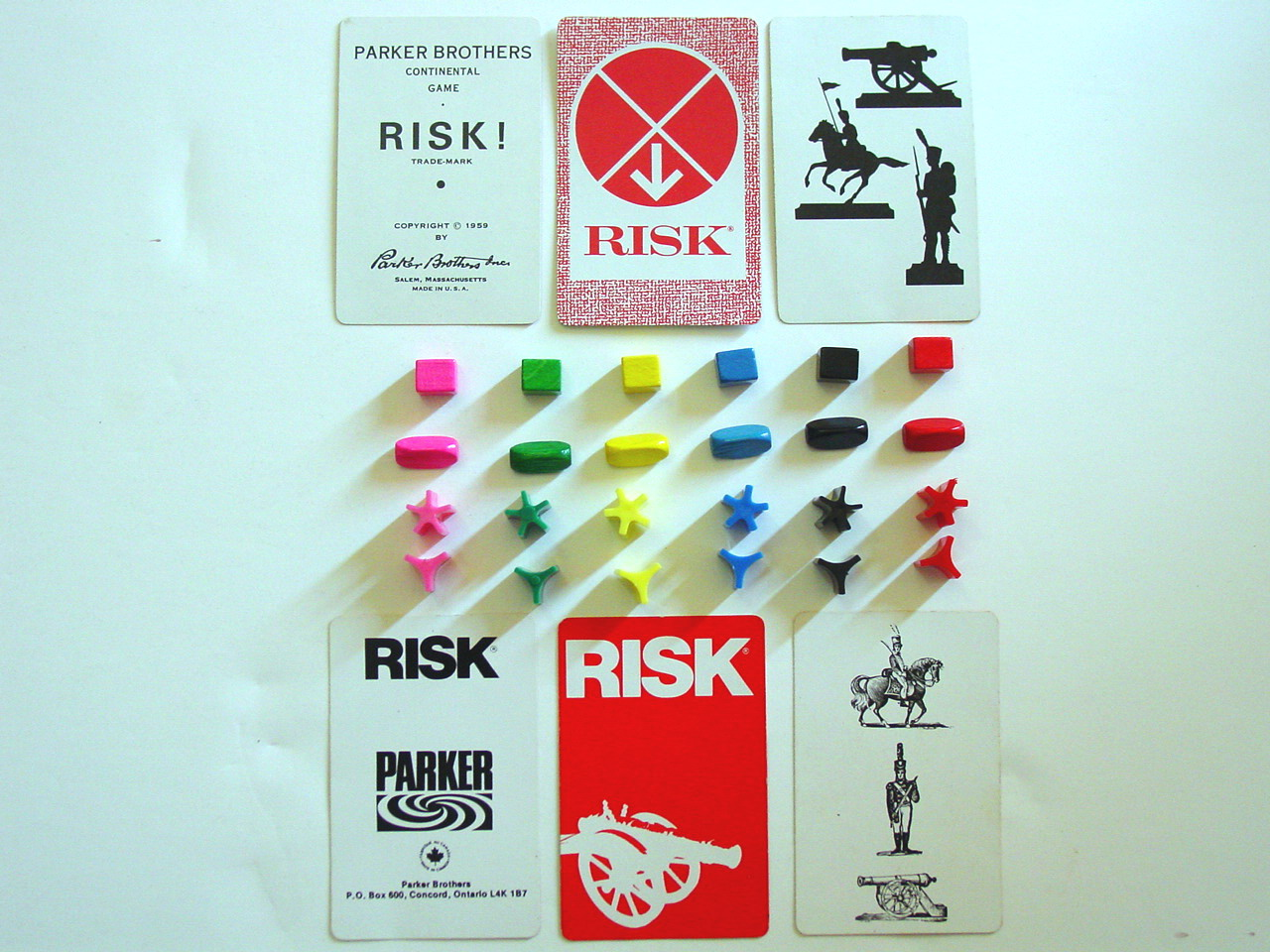 Strategy game Risk Action Cards