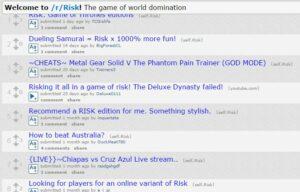 risk game websites Subreddit