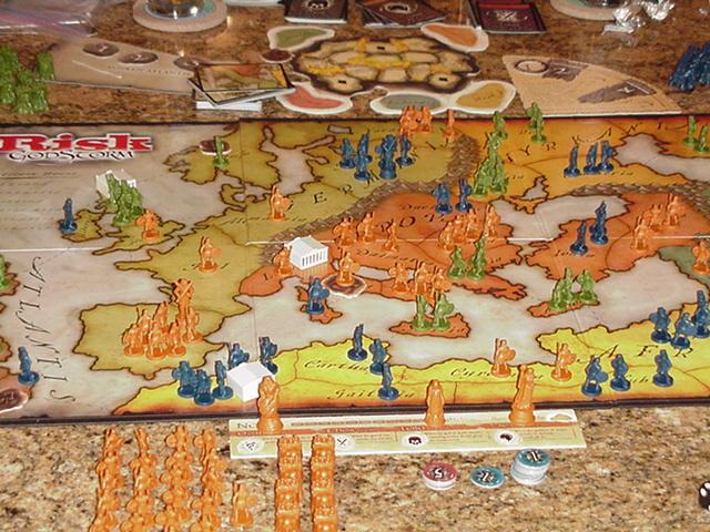 Risk GodStorm Set Board Pieces