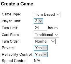 Strategygamenetwork.com Options Menu