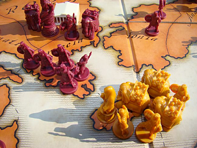 Risk: Godstorm board and pieces