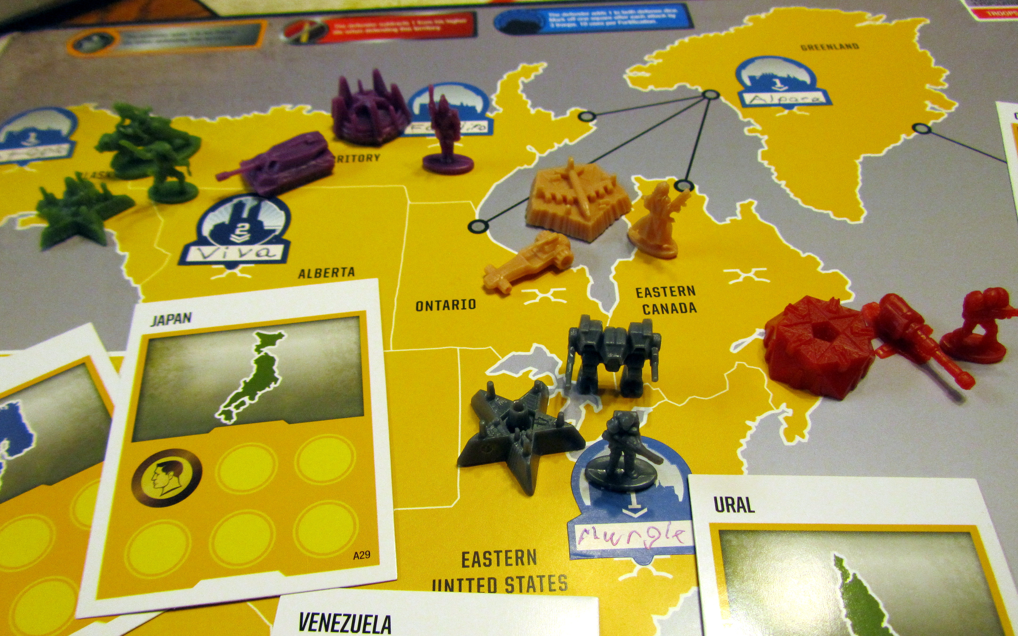 Risk Legacy Board and Pieces